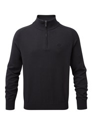 Henri Lloyd Men's Moray Regular Half Zip Knit Black