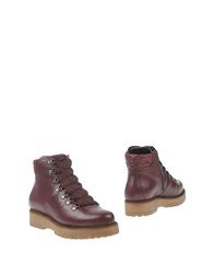 Manas Design Ankle Boots Maroon