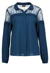 Vero Moda Vmhelena Shirt Reflecting Pond Blue Grey