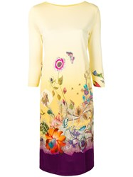 Etro Floral Shift Dress Yellow