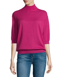See By Chloe Turtleneck 3 4 Sleeve Sweater Fuxia