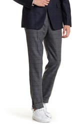 Jack Spade Fairview Modern Fit Windowpane Plaid Pant Gray