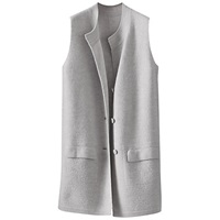 Poetry Merino Sleeveless Cardigan