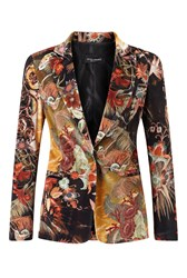 James Lakeland Print Velvet Jacket Multi Coloured