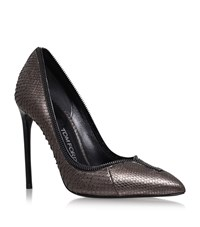 Tom Ford Zipped Snakeskin Pumps Female Grey