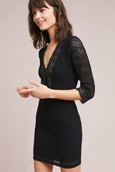 Nightcap Diamond Lace Mini Dress Black