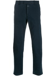 Closed Straight Leg Chino Trousers Blue