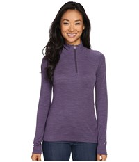 Smartwool Nts Mid 250 Zip Top Desert Purple Heather Women's Long Sleeve Pullover