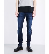 7 For All Mankind Ronnie Slim Fit Skinny Jeans Dark Blue