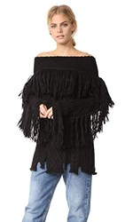 Philosophy Di Lorenzo Serafini Fringe Sweater Black
