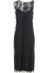 Nina Ricci Slip Dress With Lace Overlay Blue