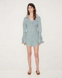 Jacquemus La Robe Beauduc Blue Green Check