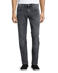 True Religion Geno Acid Wash Denim Jeans Gray