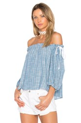 Sam And Lavi Sachi Top Blue