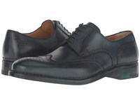 A. Testoni Amedeo Hand Painted Wing Tip Oxford Bottle Green Men's Shoes