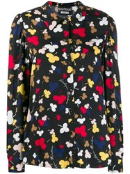 Boutique Moschino Floral Print Shirt Black