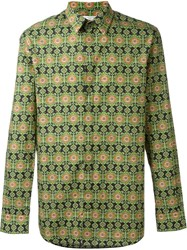 Givenchy Aztec Print Shirt Green