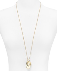 T Tahari Essential Multi Charm Pendant Necklace 34 Gold