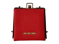 Love Moschino Solid Evening Clutch Red Clutch Handbags