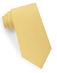 Lord And Taylor Textured Silk Tie Yellow