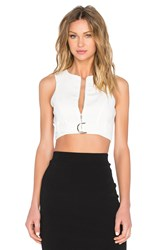Lavish Alice D Ring Belt Top White