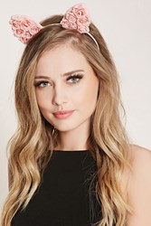 Forever 21 Floral Lace Cat Ears Headband
