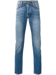 Nudie Jeans Co Faded Slim Fit Men Cotton Spandex Elastane 30 Blue