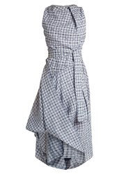 Vivienne Westwood Gingham Asymmetric Dress Blue Multi