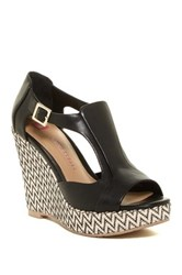 Elaine Turner Designs Julia Woven Wedge Heel Black