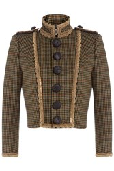 Dsquared2 Wool Tweed Jacket Green