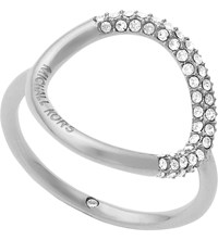 Michael Kors Brilliance Silver Toned Pave Ring