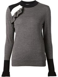 Viktor And Rolf Ruffle Detail Sweater Grey