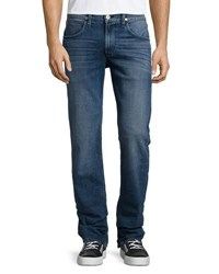 Hudson Blake Slim Straight Leg Denim Pants Blue