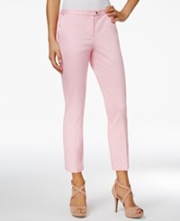 Xoxo Juniors' Natalie Cropped Straight Leg Trousers Light Pink