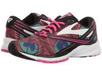 Brooks Launch 4 Peacock Pink Glo Black Women's Running Shoes Multi