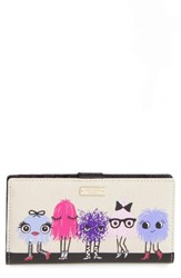 Kate Spade Women's New York Monster Party Stacy Coated Canvas Wallet