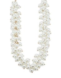 Design Lab Lord And Taylor Faux Pearl Collar Necklace White