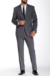 Vince Camuto Grey Tweed Two Button Notch Lapel Modern Fit Suit Gray