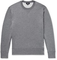 Dunhill Loopback Wool And Cashmere Blend Sweatshirt Anthracite