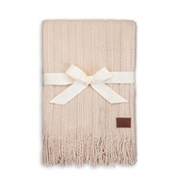 Ugg Fine Cable Knit Throw Oatmeal