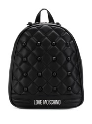 Love Moschino Quilted Studded Backpack Black