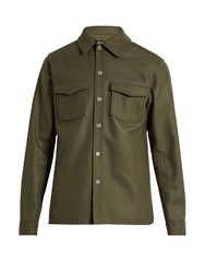 A.P.C. Beach House Wool And Cashmere Blend Jacket Khaki