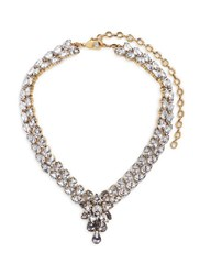 Erickson Beamon 'Parlor Trick' 24K Gold Plated Swarovski Crystal Necklace White