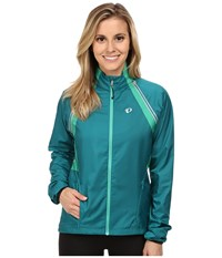 Pearl Izumi W Elite Barrier Convertible Cycling Jacket Deep Lake Women's Workout Blue