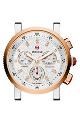 Women's Michele 'Sport Sail' Chronograph Watch Case 36Mm