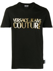 Versace Jeans Couture Printed Logo T Shirt Black