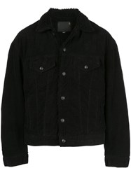 R 13 R13 Shearling Lined Jacket Black