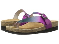 Naot Footwear Tahoe Hand Crafted Purple Teal Leather Women's Wedge Shoes