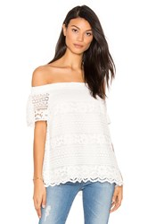 1.State Off Shoulder Blouse White