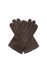 Dents Shaftesbury Touchscreen Leather Gloves Brown